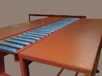 Inspection Table with Roller Conveyors